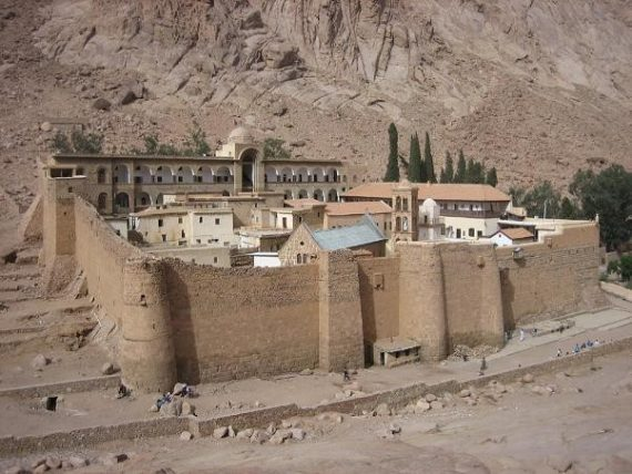 Private excursion: St Catherine's and Moses Mountain from Sharm by bus