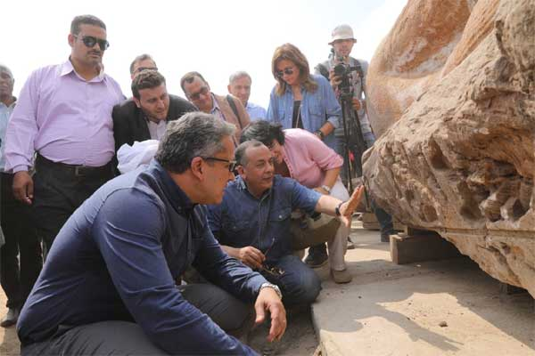 San Al-Hagar archaeological site's conversion to open-air museum of ancient Egyptian art making progress 2